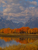 The Oxbow Reflection and Mountains Stock Photos