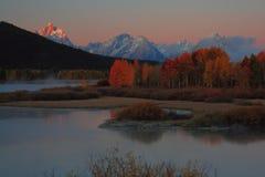 Oxbow wschód słońca Fotografia Stock
