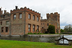 Oxburgh Hall, Norfolk, England - corner view with sluice gate Stock Images