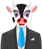 Oxen in fashionable suit Stock Photography