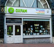 Oxfam Store Frontage Royalty Free Stock Images