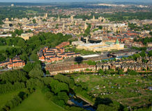 Oxford from the air. Arial view of Oxford, UK, from a hot air balloon stock image