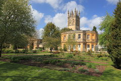 Oxford. The botanical garden with the Magdalen chapel in the background in Oxford, England Stock Image