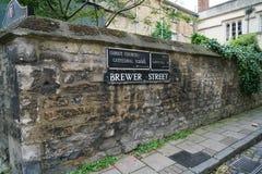 Oxford Brewer Street Stock Photo