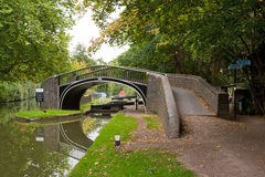 Oxford Canal. Bridge above Oxford Canal. Oxford, England Royalty Free Stock Photos
