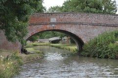 The Oxford canal towards Braunston. Stock Photos
