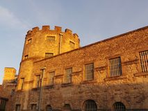 Oxford Castle. Lit by the setting sun Royalty Free Stock Photos