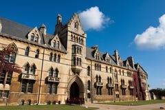 Oxford. Christ-Kirche-Hochschule Lizenzfreie Stockfotos