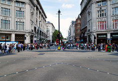 The Oxford Circus crossing in London Royalty Free Stock Photo