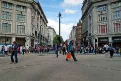 The Oxford Circus crossing in London Stock Image