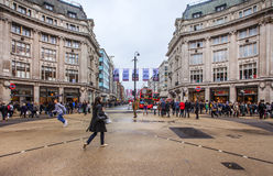 The Oxford Circus crossing in London Stock Photography
