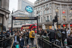 Oxford Circus in London, entrance/exit to the Underground Royalty Free Stock Images
