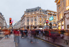 Oxford Circus, London - male tourist taking a photo, at Christma Stock Photography