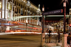 Oxford Circus in London at night Stock Image
