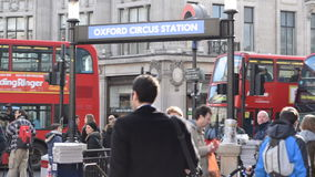 Oxford Circus Station, London stock video