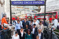 Oxford circus tube station Royalty Free Stock Photos