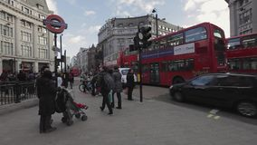 Oxford Circus-Winter London stock video footage