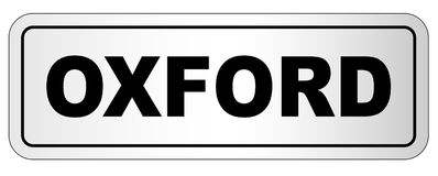 Oxford City Nameplate Stock Image