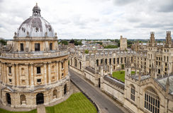 Oxford in cloudy day Royalty Free Stock Images