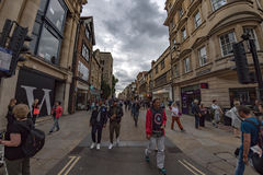 OXFORD, ENGLAND - JULY 15 2017 - Tourists in University town one of most visited in the world Royalty Free Stock Photos