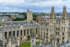 Oxford Förenade kungariket - Augusti 21, alla anda högskola, Oxford FN Arkivbilder