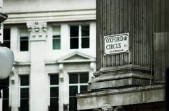 oxford gata Royaltyfri Fotografi