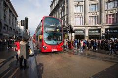 Oxford gata, London, 13 05 2014 Royaltyfri Fotografi