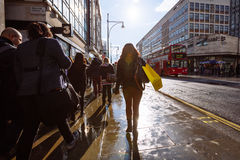 Oxford gata, London, 13 05 2014 Royaltyfria Foton