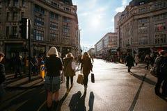 Oxford gata, London, 13 05 2014 Arkivbilder