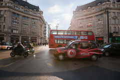 Oxford gata, London, 13 05 2014 arkivfoton
