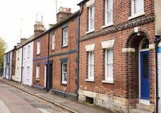 OXFORD HET UK 26 OKTOBER 2016: Buitenkant van Victoriaanse Terrasvormige Huizen in Oxford Stock Fotografie