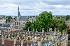 Oxford, het Verenigd Koninkrijk - Augustus 21, stadspanorama op 21 Augustus, Stock Afbeelding