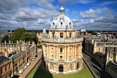 Oxford library and spires Royalty Free Stock Image