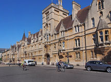 Oxford main street with cyclists Royalty Free Stock Photo
