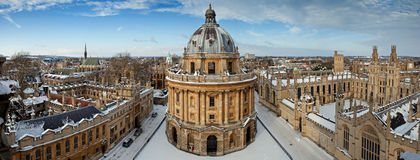 oxford panorama- sikt Arkivbild
