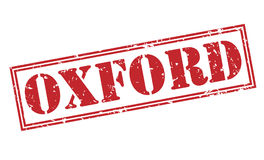 Oxford red stamp Royalty Free Stock Photos