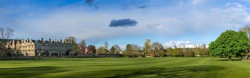Oxford, Reino Unido - 30 de abril de 2016: Prado da faculdade de Christchurch Fotografia de Stock Royalty Free