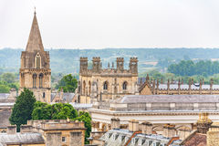 Oxford rooftop. England Royalty Free Stock Images