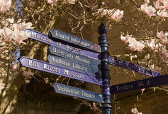Oxford signpost in Spring Stock Photos