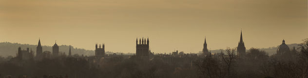 Oxford skyline royalty free stock photography