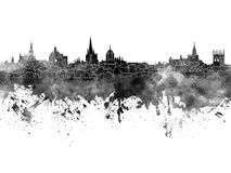 Oxford skyline in black watercolor Royalty Free Stock Photo
