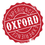 Oxford stamp rubber grunge Royalty Free Stock Photo
