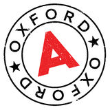 Oxford stamp rubber grunge Stock Images