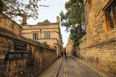 Oxford-Straße - Herbstfarben Lizenzfreies Stockfoto