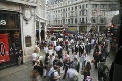 Oxford-Straße in London Stockfotos