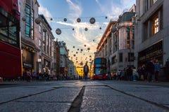 Oxford-Straße, London, Großbritannien 20. Oktober 2018 lizenzfreie stockfotografie