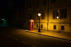 Oxford-Straßenlandschaft nachts Stockbild