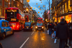 The  Oxford Street in the Boxing Day Stock Photography
