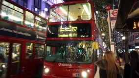 2014, Oxford Street with Christmas Decoration stock footage