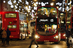 2013, Oxford Street with Christmas Decoration Royalty Free Stock Images